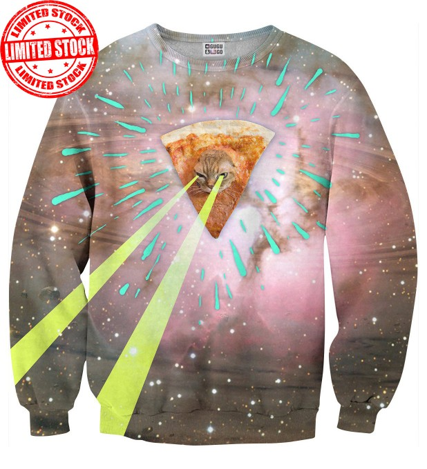 Super Pizza Laser Cat sweater Thumbnail 1