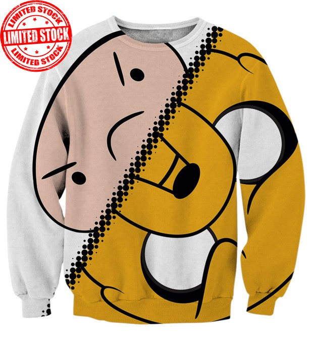 Finn vs Jake Sweater Miniature 1