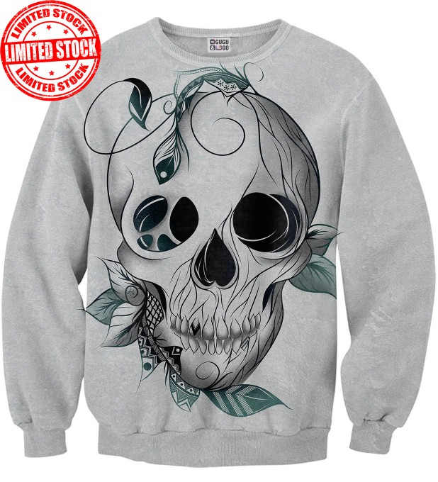 Leaf skull sweater Miniature 1