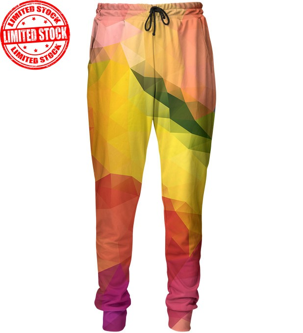 Colorful geometric pattern sweatpants Miniature 1