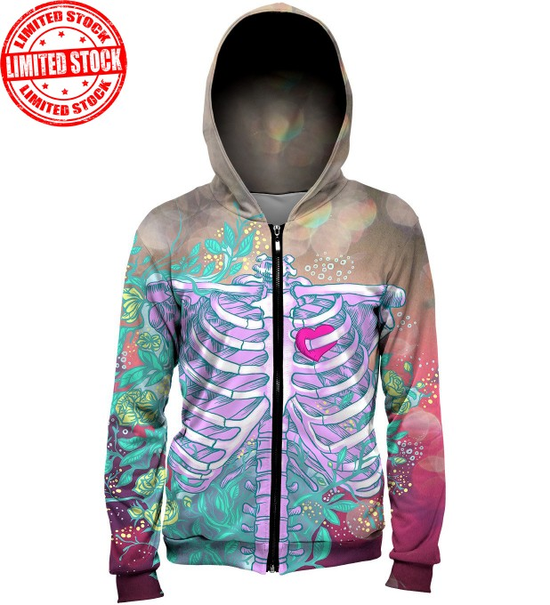 Heart in chest hoodie Thumbnail 1