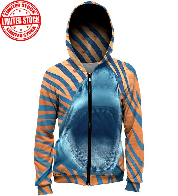 ORANGE SHARK hoodie Miniatura 1
