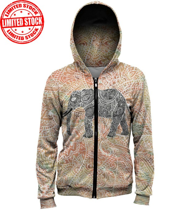 Indian Elephant hoodie Thumbnail 1