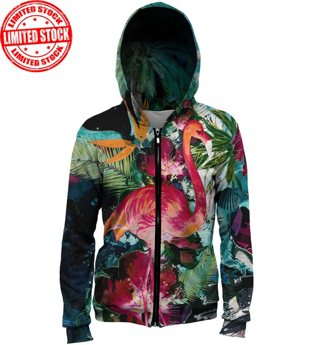 Colorful Flamingo hoodie Miniature 1