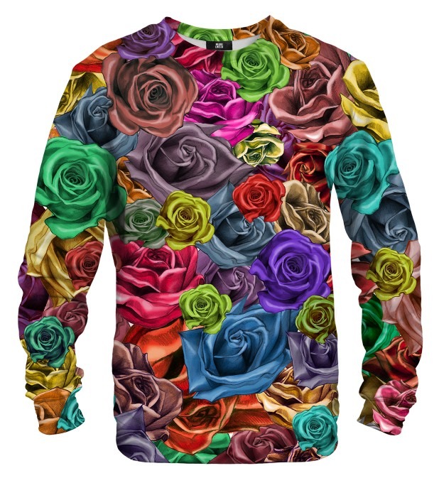 Colorful Roses sweater Miniature 1