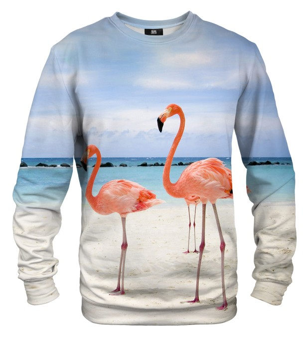 Flamingos On The Beach sweater Thumbnail 1