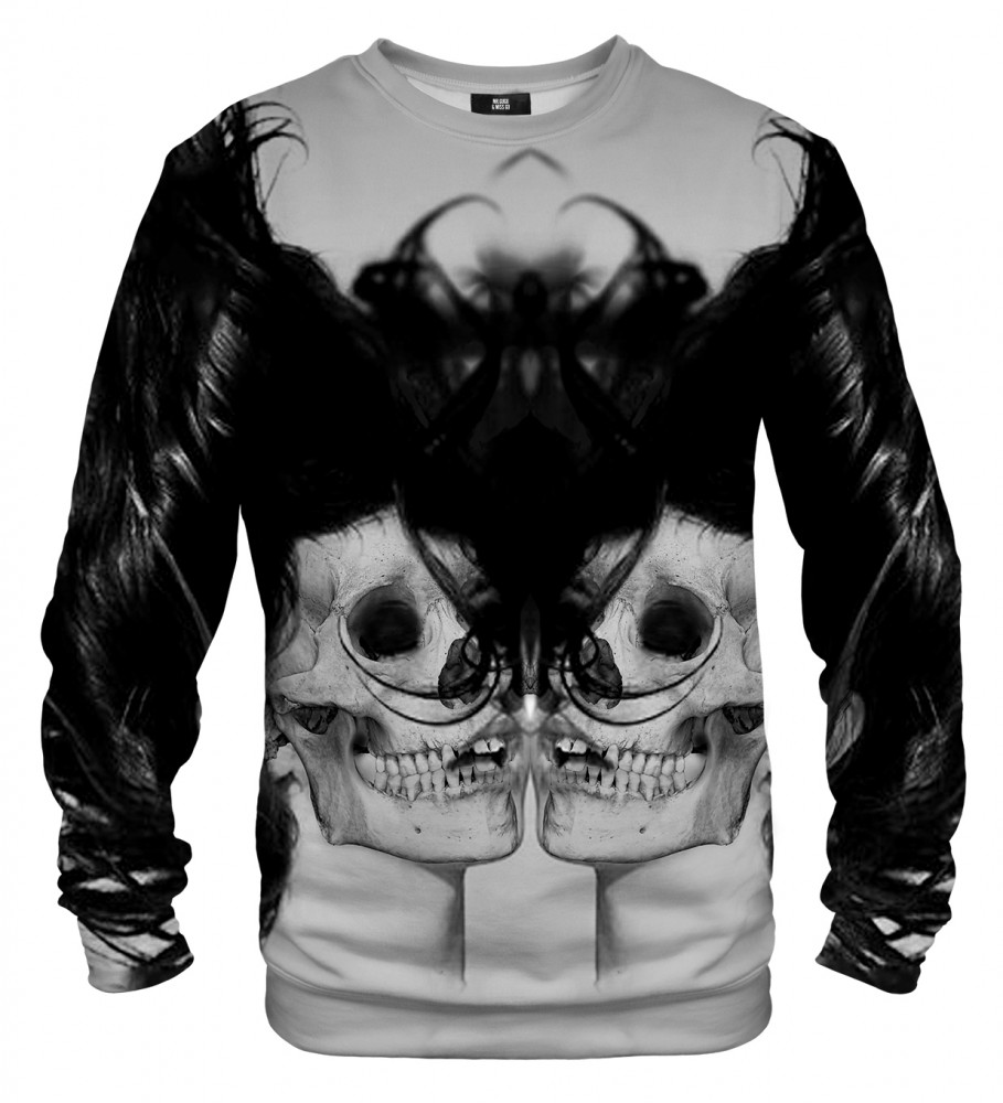 Mr. Gugu & Miss Go, Black Skull Girl Net sweater Image $i