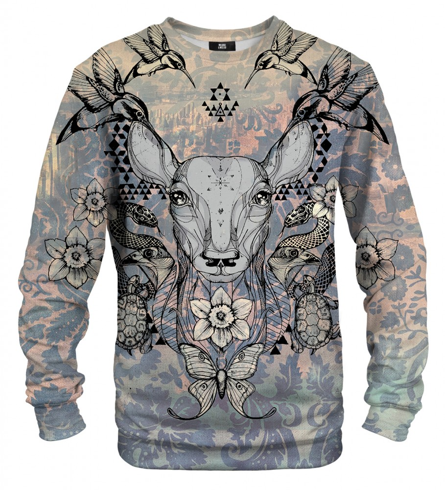 Mr. Gugu & Miss Go, Deer Colage sweater Image $i