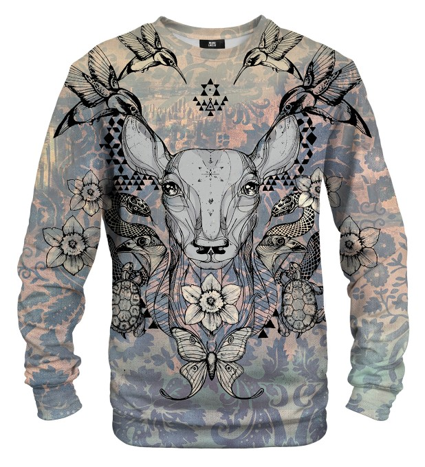 Deer Colage sweater Thumbnail 1