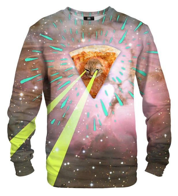 Super Pizza Laser Cat sweater Miniature 1