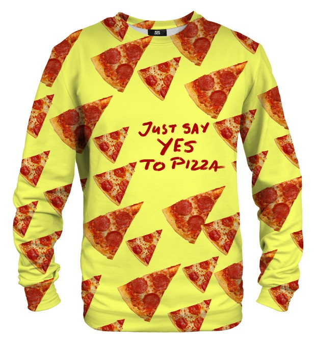 Yes to pizza sweater Miniature 1