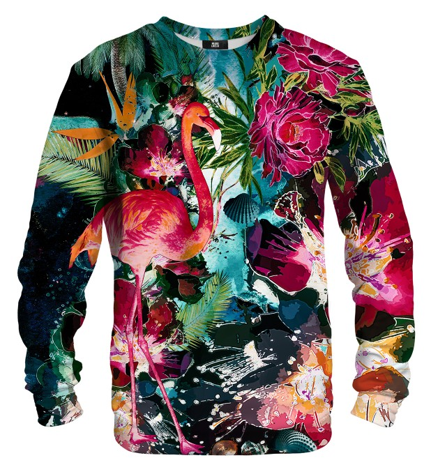 Colorful Flamingo sweatshirt Miniaturbild 1