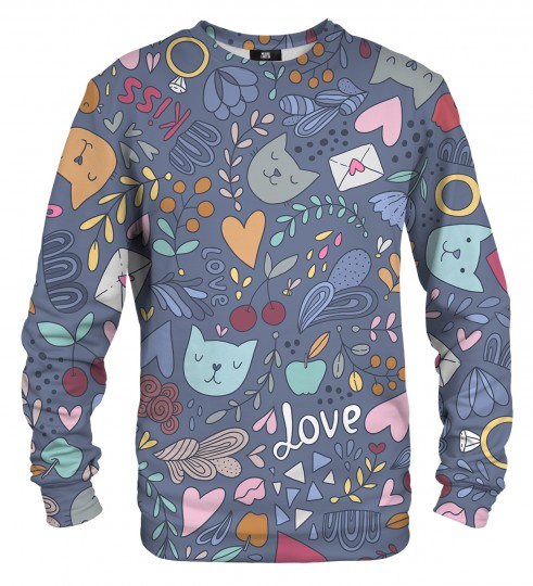Romantic Cats sweater Miniature 1