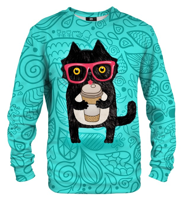Coffee Cat sweater Miniatura 1