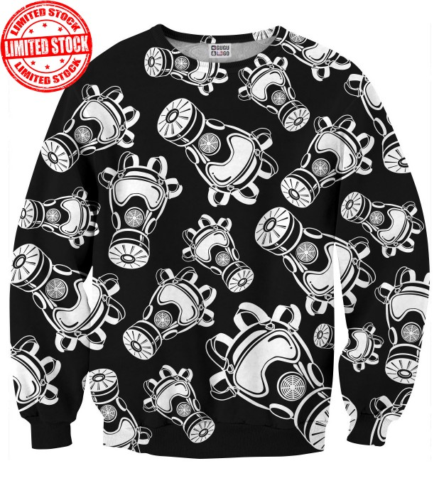 Gas Mask B&W sweater Thumbnail 1