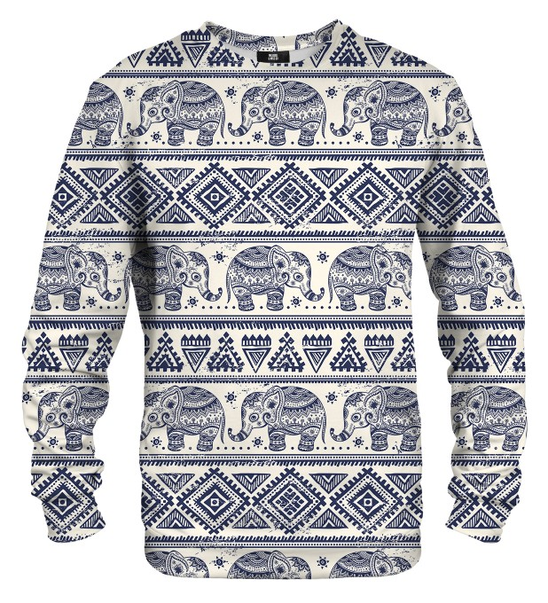 Elephants Pattern sweater Thumbnail 1
