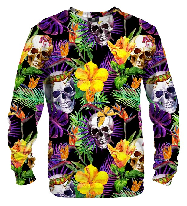 Skulls in Flowers sweater Miniature 1