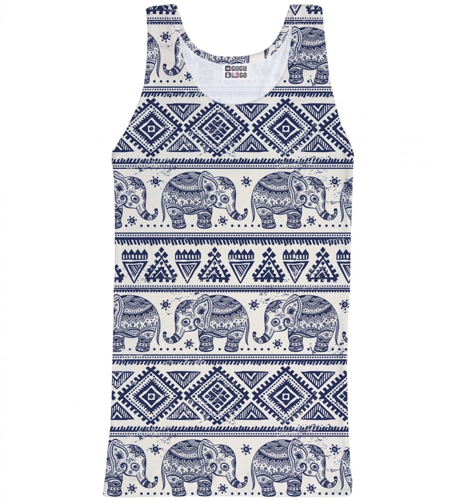 Mr. Gugu & Miss Go, Elephants Pattern tank-top Imagen $i