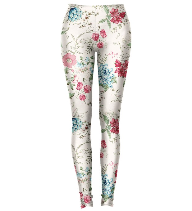 Flowers Sketch Leggings Miniature 1
