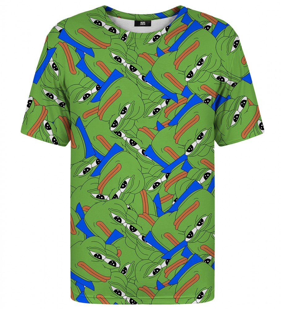 Pepe the frog pattern t shirt