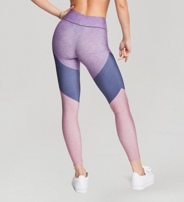Tricolor Mauve Orchid Pastel leggings Miniature 2