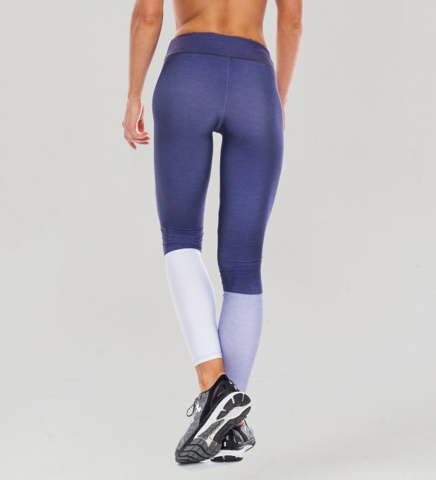 Tricolor Galaxy Blue Pastel Leggings Thumbnail 2