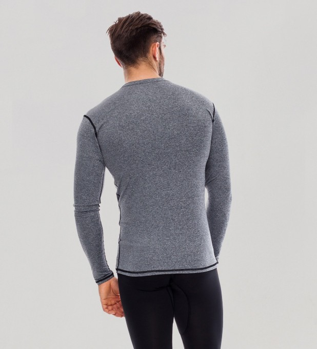 Grey Plain Basic Rashguard Miniatura 2