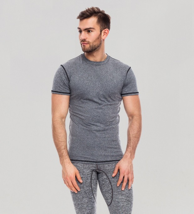 Grey Plain Basic Rashguard Miniatura 1