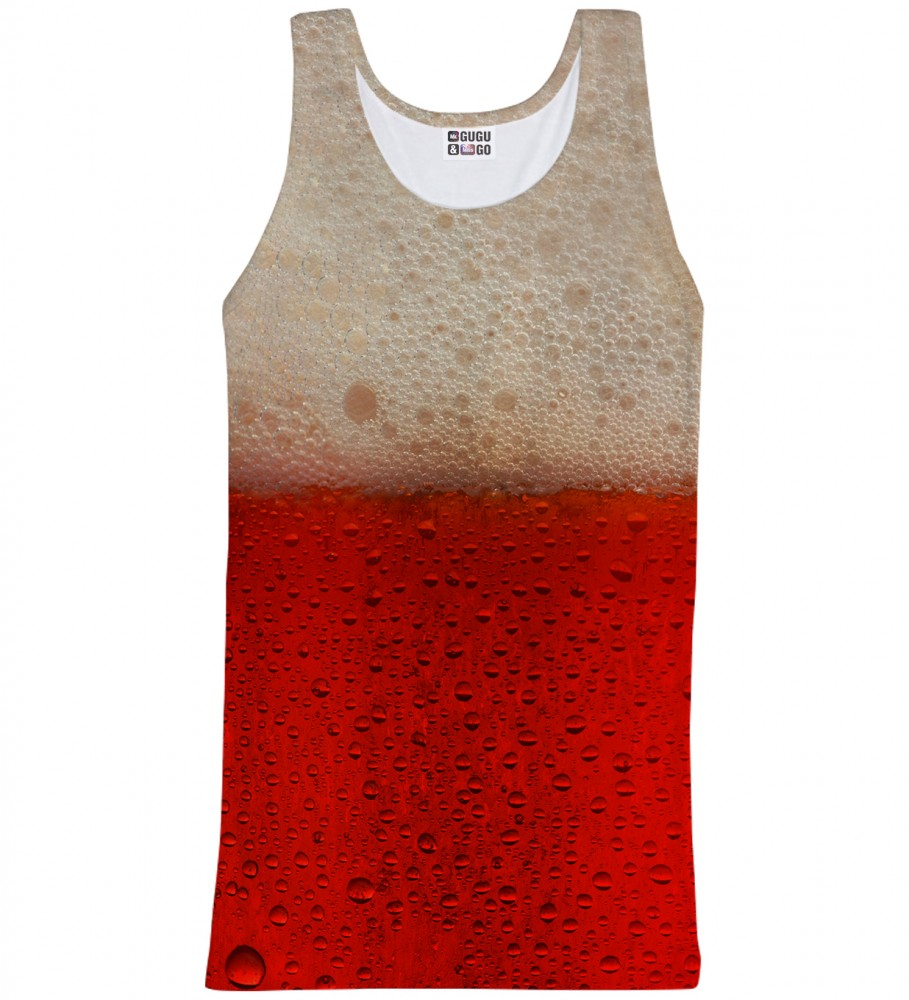 Mr. Gugu & Miss Go, Red Beer tank-top Image $i