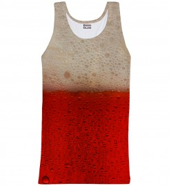 Mr. Gugu & Miss Go, Tank-top ze wzorem Red Beer Miniatury $i