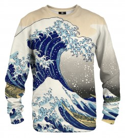 Mr. Gugu & Miss Go, Kanagawa Wave sweater Thumbnail $i