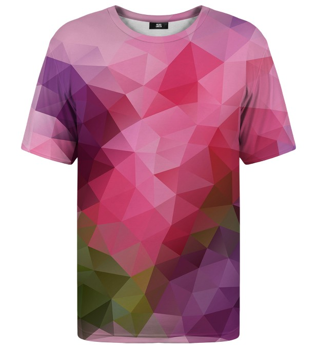 Violet geometric t-shirt Miniature 1