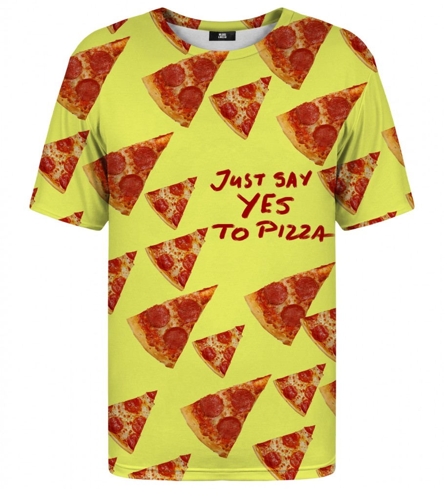 Mr. Gugu & Miss Go, Yes to pizza t-shirt Image $i