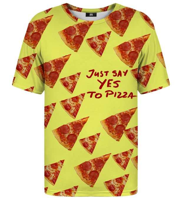 Yes to pizza t-shirt Thumbnail 1