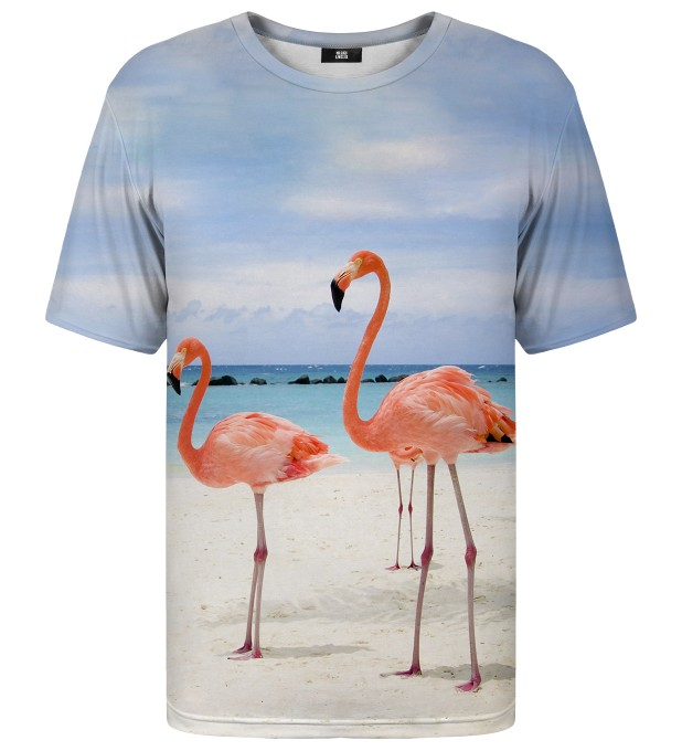 Flamingos On The Beach t-shirt Miniatura 1