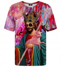 Mr. Gugu & Miss Go, Pink Jezus t-shirt Thumbnail $i