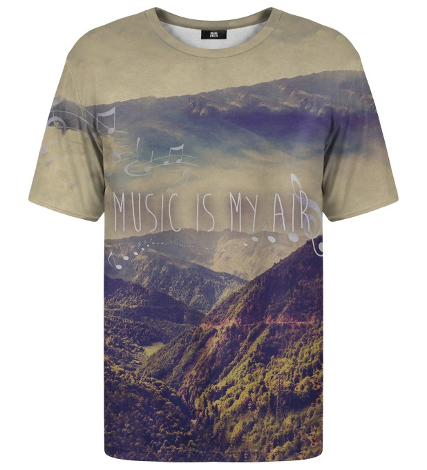 T-shirt ze wzorem Music Is My Air Miniatury 1