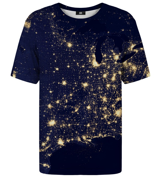 T-shirt ze wzorem Light Map Miniatury 1