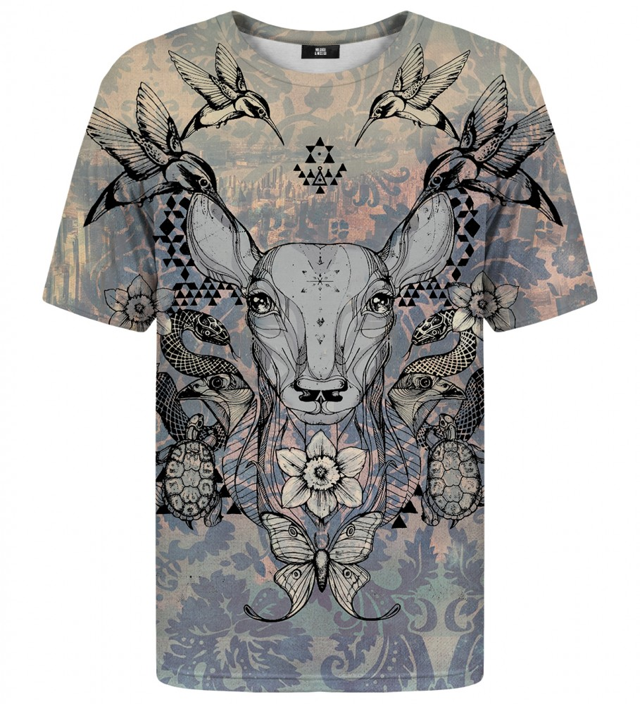 Mr. Gugu & Miss Go, Deer Colage t-shirt Фотография $i