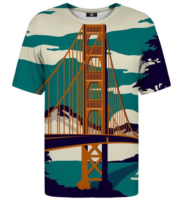T-shirt ze wzorem Golden Bridge Miniatury 1