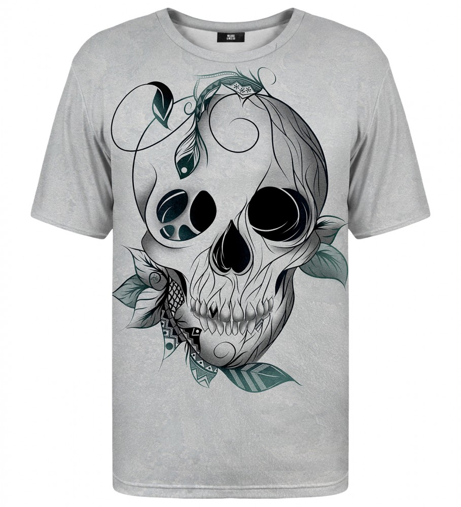 Mr. Gugu & Miss Go, Leaf skull t-shirt Image $i
