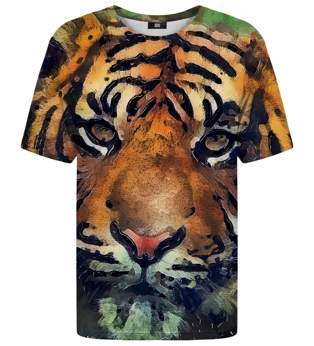 Aquarelle Tiger t-shirt Miniature 1