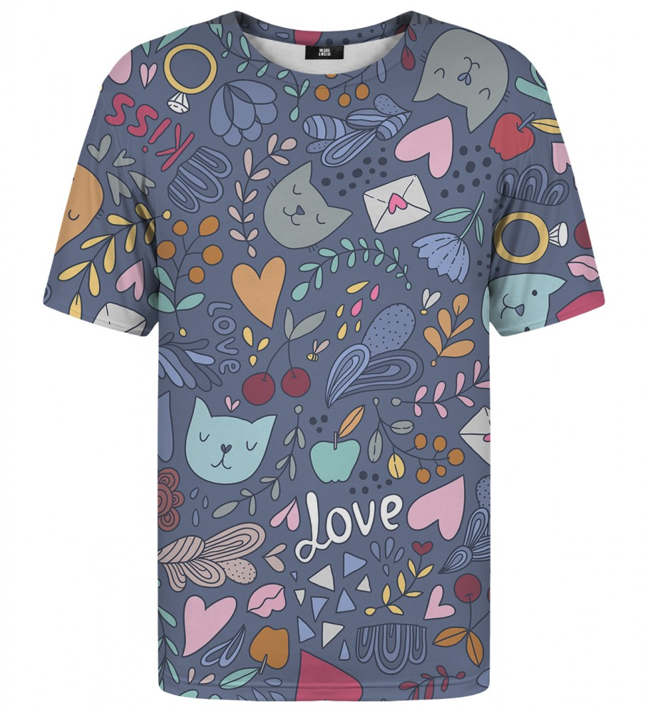 Mr. Gugu & Miss Go, Romantic Cats t-shirt Image $i