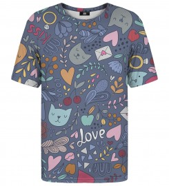 Mr. Gugu & Miss Go, Romantic Cats t-shirt Thumbnail $i
