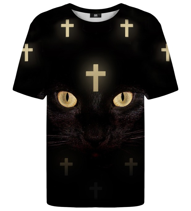 T-shirt ze wzorem Cross Cat Net Miniatury 1