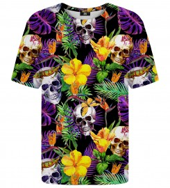 Mr. Gugu & Miss Go, Skulls in Flowers t-shirt Thumbnail $i