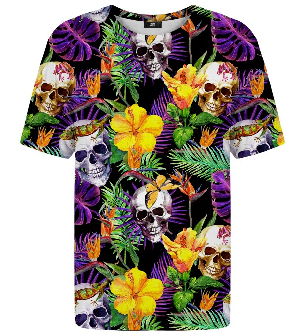T-shirt Skulls in Flowers Miniatury 1
