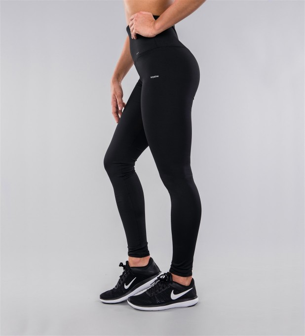 Full Black Classic Highwaist Leggings Thumbnail 2