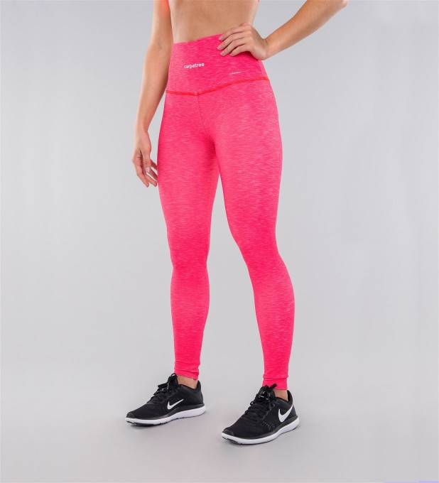 Full Pink Melange Highwaist Leggings Miniatura 1