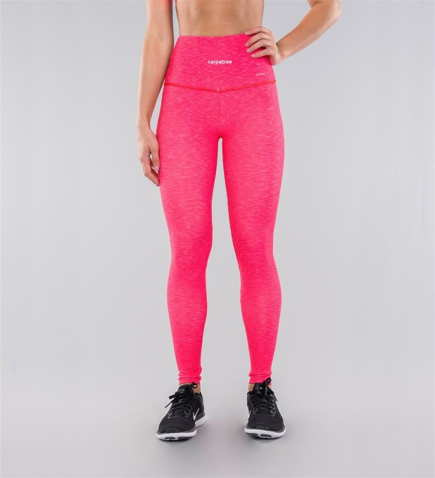 Full Pink Melange Highwaist Leggings Miniature 2